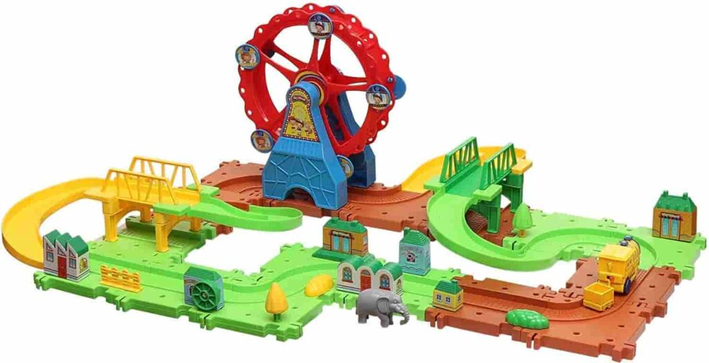 train toys set with an gient wheel