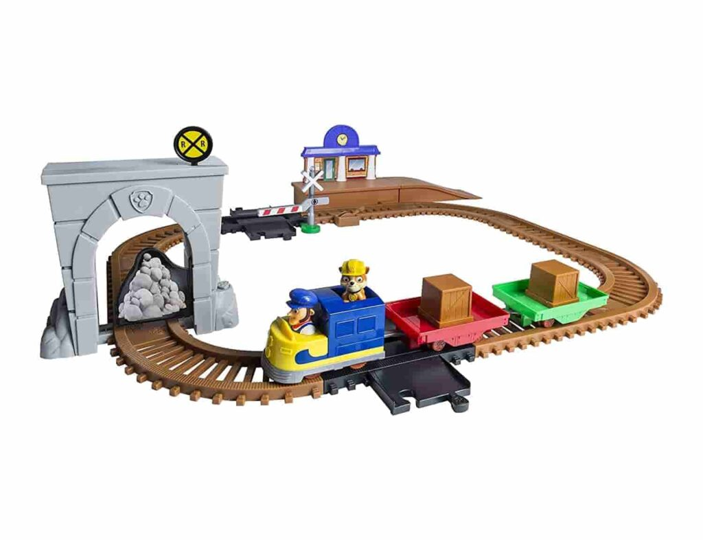 toy train set for kids with station